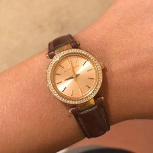 Leather Michael Kors watch